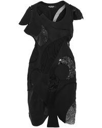 Junya Watanabe Patchwork Wool Blend Felt Mini Dress - Lyst
