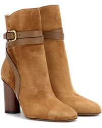 Gucci Suede Ankle Boots - Lyst
