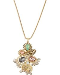 Fragments Beaded Flower Pendant Necklace - Lyst