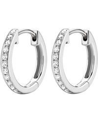 Kiki McDonough | Kiki Classics 18k White Gold Diamond Hoop Earrings | Lyst