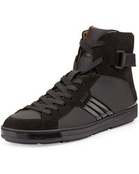 Bally Airel Mixed Media High-top Sneaker - Lyst