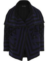 Burberry Prorsum Striped Woolblend Jacket - Lyst