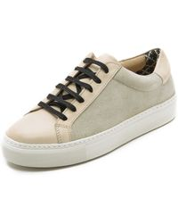 By Malene Birger Ceall Lace Up Suede Sneakers - Black - Lyst