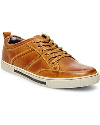 Steve Madden Leather Sneakers - Lyst