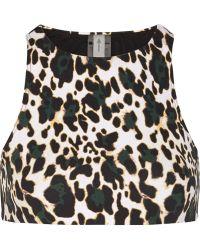 The Upside Hudson Leopard-print Bikini Top - Lyst