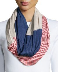 Michael Stars Mixed Pinstripe Infinity Scarf - Lyst