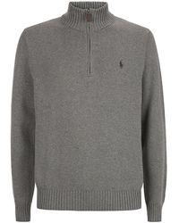 Polo Ralph Lauren Cotton Half-Zip Sweater - Lyst