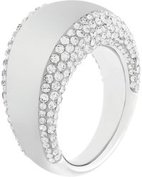 Swarovski Pebble Silvertone  Crystal Ring - Lyst