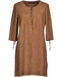 Antik Batik Brown Short Dress - Lyst