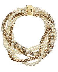 Kate Spade Parlour Pearls Twisted Statement Necklace - Lyst