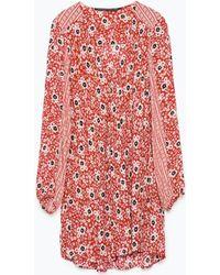 Zara Combined Printed Dress - Lyst