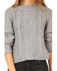 3.1 Phillip Lim Mixed Cable Pullover - Lyst