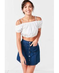 ALICE & UO - Hermance Off-the-shoulder Cropped Top - Lyst