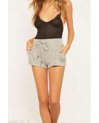 Out From Under | Cosy Grey Shorts | Lyst