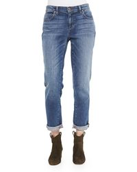 Eileen Fisher Stretch Boyfriend Jeans - Lyst
