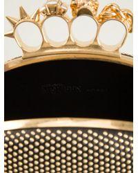 Alexander McQueen 'Knucklebox' Studded Oval Clutch - Lyst