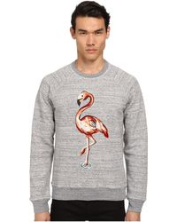 Marc Jacobs Flamingo Embroidered Swirly Sweatshirt gray - Lyst