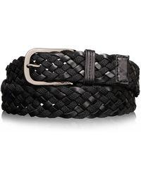 Tumi - Ballistic Nylon & Leather Braided Belt - Lyst