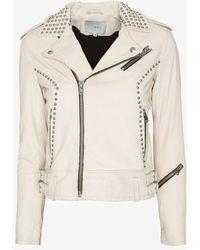 Iro Wenda Studded Leather Jacket - Lyst