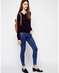 Sessun Tullio Knitted Jumper With Contrast Collar - Lyst
