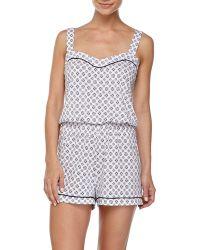Cosabella Bella Medallion Print Pajama Jumpsuit - Lyst