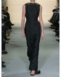 Marchesa | Silk Crepe Column Gown | Lyst