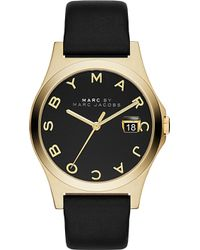 Marc By Marc Jacobs Mbm1357 Yellow Gold-Plated And Leather Ladies Watch - For Women - Lyst