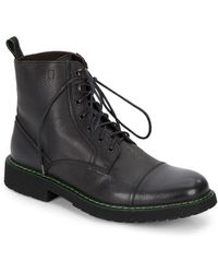 Bruno Magli Sonny Leather Combat Boots - Lyst