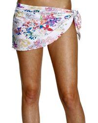 Patrizia Pepe Wrap Skirt Print  - Lyst