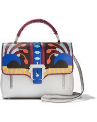 Paula Cademartori - Petite Faye Printed Leather Shoulder Bag - Lyst
