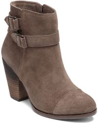 Vince Camuto Hasia Suede Ankle Boots - Lyst