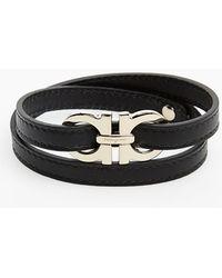Ferragamo Leather Wrap Bracelet - Lyst