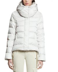 Patrizia Pepe Short Reversible Real Down Jacket with Removable Hood - Lyst