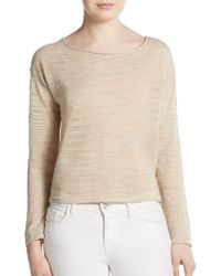 Eileen Fisher Linen Blend Dropped Shoulder Pullover - Lyst