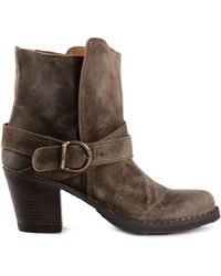 Fiorentini + Baker Light Bosco Brown Suede Stacked Boot - Lyst