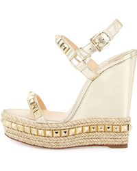 Christian louboutin Pyrabubble Studded 70mm Red Sole Sandal in ...