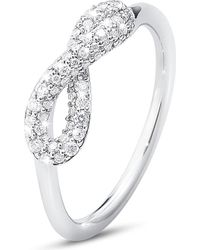 Georg Jensen - Infinity Sterling Silver And Diamond Ring - Lyst
