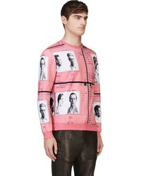 Carven Pink Id Print Sweatshirt - Lyst