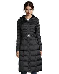 Laundry by Shelli Segal - Black Box Quilted Full Length Faux Fur Hooded Down Jacket - Lyst