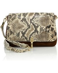 Elizabeth and James | Cynnie Snake-embossed Leather & Suede Crossbody Bag | Lyst