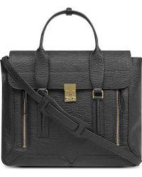 3.1 Phillip Lim Textured Leather Satchel Bag - Lyst