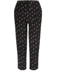 Marni Printed Cropped Trousers - Lyst