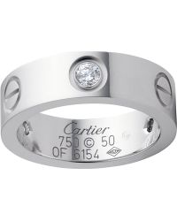 Cartier Love 18ct White Gold and Diamond Ring - Lyst