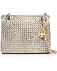 Tory Burch Fleming Metallic Quilted Medium Bag - Lyst