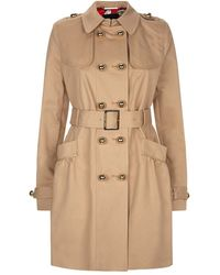 Juicy Couture Cotton Twill Trench Coat - Lyst