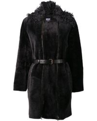 Lanvin Belted Coat - Lyst