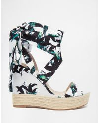 ASOS | Tornado Lace Up Wedges | Lyst