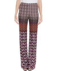 Missoni Lurex Wave Straight Leg Trouser - Lyst