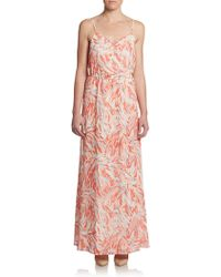 5/48 Preslee Abstract Print Maxi Dress - Lyst