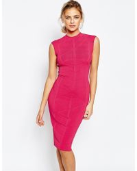 Ted Baker | Bodycon Jaquard Knitted Dress | Lyst